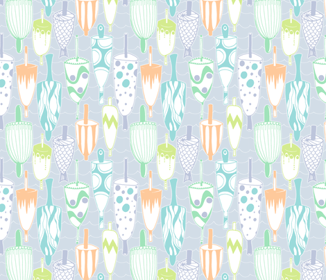 Out In The Harbor: Circus Buoys fabric by spugnardidesign on Spoonflower - custom fabric