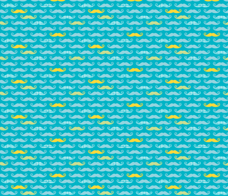 boy blue mustache fabric by whimsiekim on Spoonflower - custom fabric