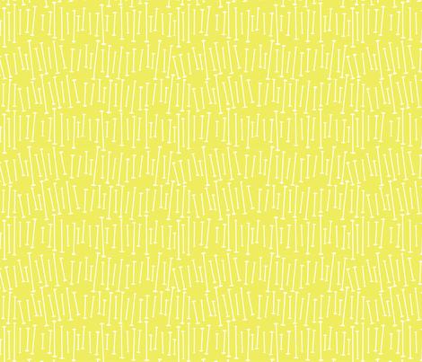 yellow baton fabric by whimsiekim on Spoonflower - custom fabric