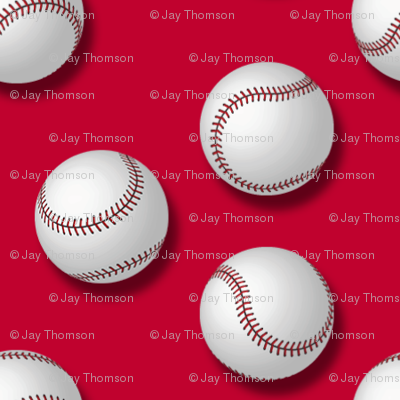 Americana: Baseballs on Red