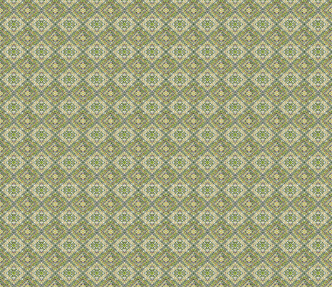 Tile-weave light green small. fabric by koalalady on Spoonflower - custom fabric