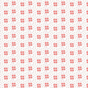 shell pink small four square dots