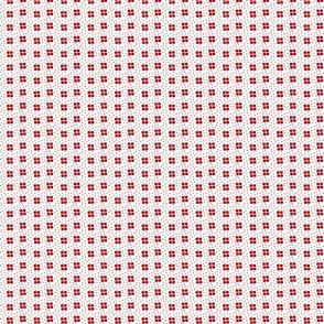 dark peach small four square dots