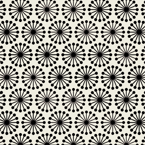 chCheer Wheel / Black fabric by hoodiecrescent&stars on Spoonflower - custom fabric
