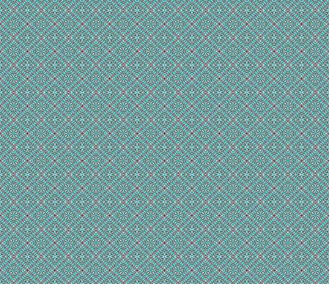 Tile weaving_light_turquoise_small fabric by koalalady on Spoonflower - custom fabric