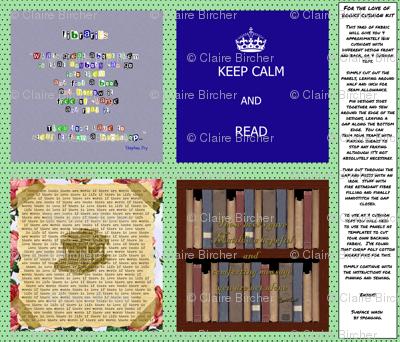 For the Love of Books Cushion/Bookbag kit