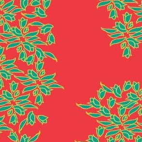 Provincial Bowers, Field Green on Summer Red