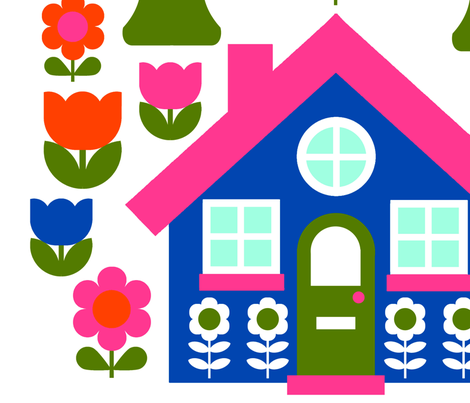 cottage_decals fabric by aliceapple on Spoonflower - custom fabric