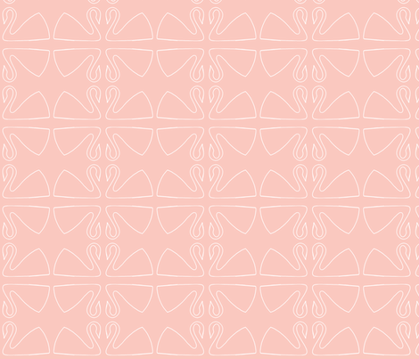 swan fabric by littlebeardog on Spoonflower - custom fabric