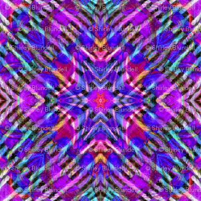 Tile-weave_purple pink blue_star