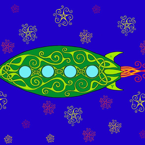 Celtic Spaceship Banner