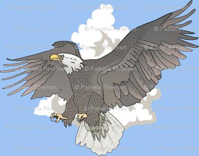 Eagles in Flight-pale