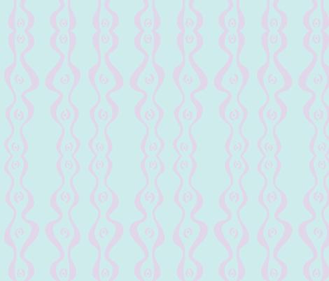wiggly ripple stripe (light aqua & lilac) fabric by pattyryboltdesigns on Spoonflower - custom fabric
