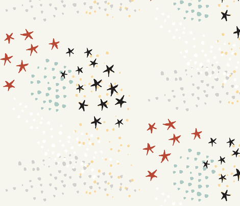 stars-oncream fabric by weegallery on Spoonflower - custom fabric