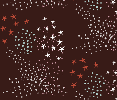 stars-onmaroon fabric by weegallery on Spoonflower - custom fabric