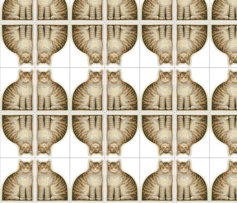 Tabby - quilt applique blocks fabric by the_cornish_crone on Spoonflower - custom fabric