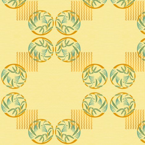 Patterned bamboo grass on sand fabric by su_g on Spoonflower - custom fabric