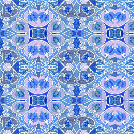 Love Among the Bluebloods fabric by edsel2084 on Spoonflower - custom fabric