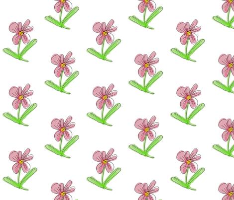FLOWER fabric by mammajamma on Spoonflower - custom fabric