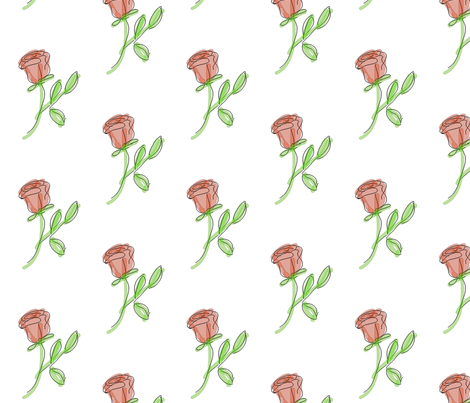 ROSE fabric by mammajamma on Spoonflower - custom fabric