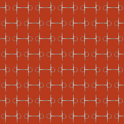 Snaffles on red fabric by ragan on Spoonflower - custom fabric