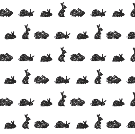 bunnies fabric by studiojelien on Spoonflower - custom fabric