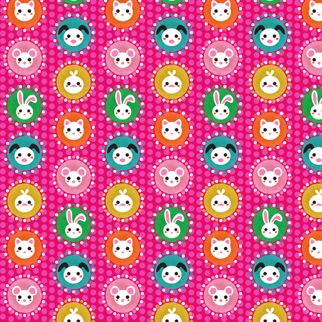 pet-dots-rood fabric by irrimiri on Spoonflower - custom fabric