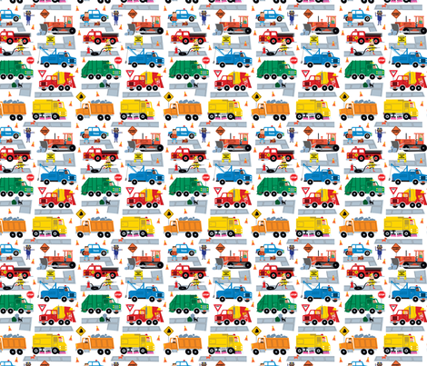 Trucks fabric by edward_elementary on Spoonflower - custom fabric