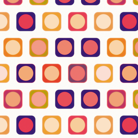 Circle Squares 5, S fabric by animotaxis on Spoonflower - custom fabric