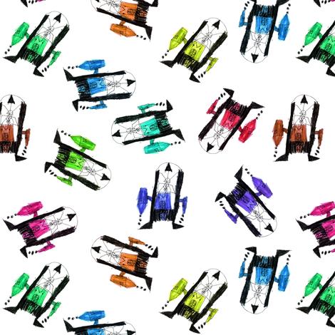 bubbie's robots fabric by weavingmajor on Spoonflower - custom fabric