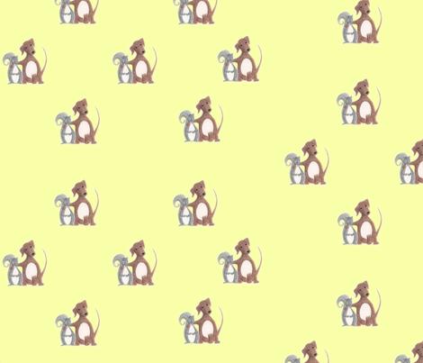 Misfit Friends-Dog & Squirrel fabric by innocence on Spoonflower - custom fabric