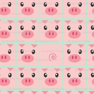 Piggy Delight in Mint