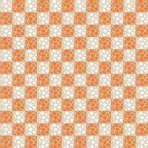 orange giraffe checkard