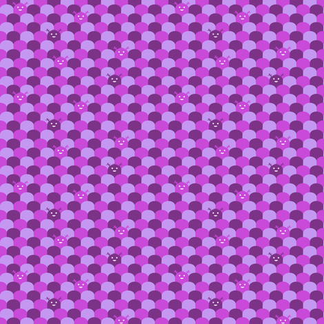 Monster Scallop - Purple - teeny tiny fabric by jesseesuem on Spoonflower - custom fabric