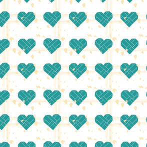 Spilling my heart out in Teal and Cream