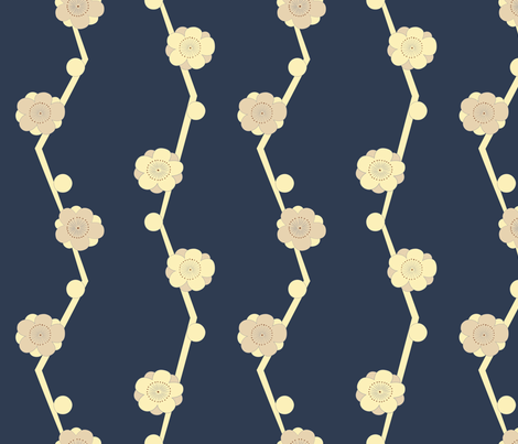 Kotatsu Floral fabric by toothpanda on Spoonflower - custom fabric