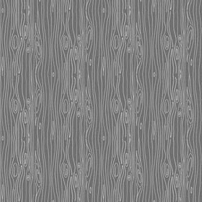 Wonky Woodgrain - grey - teeny tiny