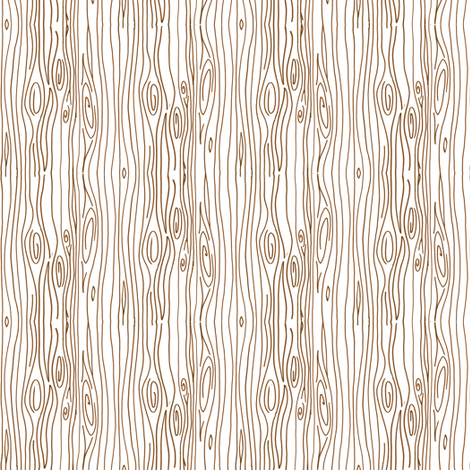 Wonky Woodgrain - brown on natural - teeny tiny fabric by jesseesuem on Spoonflower - custom fabric