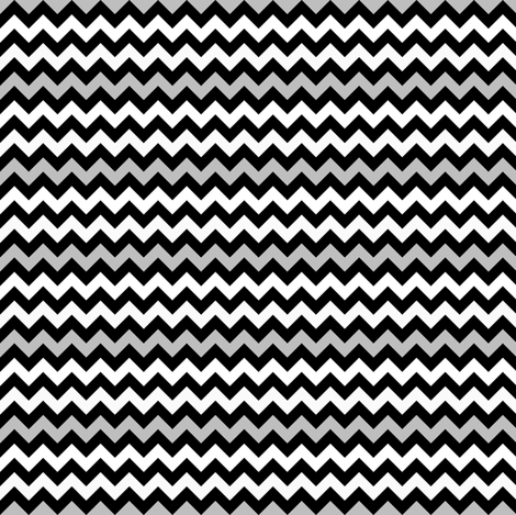 Monster Chevron - Black, White and Grey - Small fabric by jesseesuem on Spoonflower - custom fabric