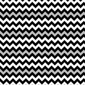Monster Chevron - Black, White and Grey - Small