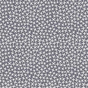 An Assortment of Tiny X's - Coal