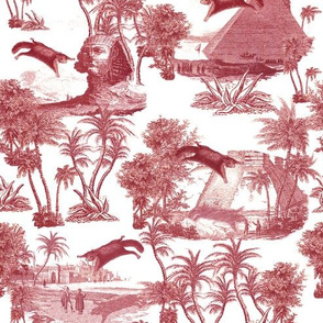 Giant flying squirrel attack toile-RED