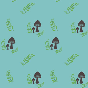 Mushroom & Fern Sky