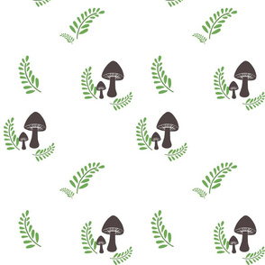 Mushroom & Fern White