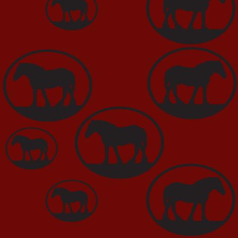 Heavy-Horse-Scatter-Wine fabric by shenlei on Spoonflower - custom fabric