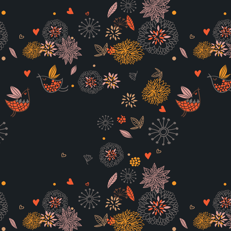 Love_birds fabric by annelouise on Spoonflower - custom fabric