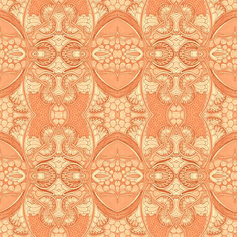 Orange Blossum Time fabric by edsel2084 on Spoonflower - custom fabric
