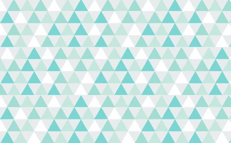 triangles blue fabric by myracle on Spoonflower - custom fabric