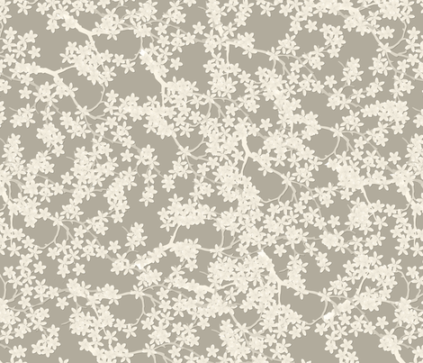 stone blossoms fabric by glimmericks on Spoonflower - custom fabric