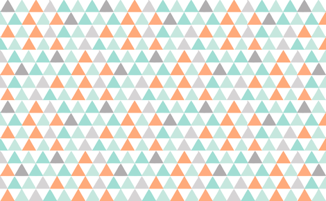 triangles orange fabric by myracle on Spoonflower - custom fabric